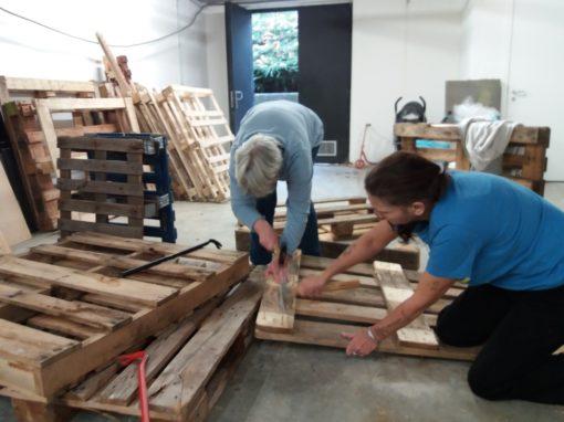L'atelier de construction en bois de palettes