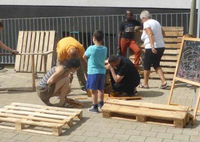 L'atelier de construction de mobilier mobile en palettes